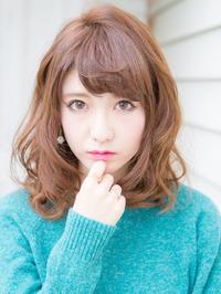 厚めバング☆マーメイドアッシュハニーヘア